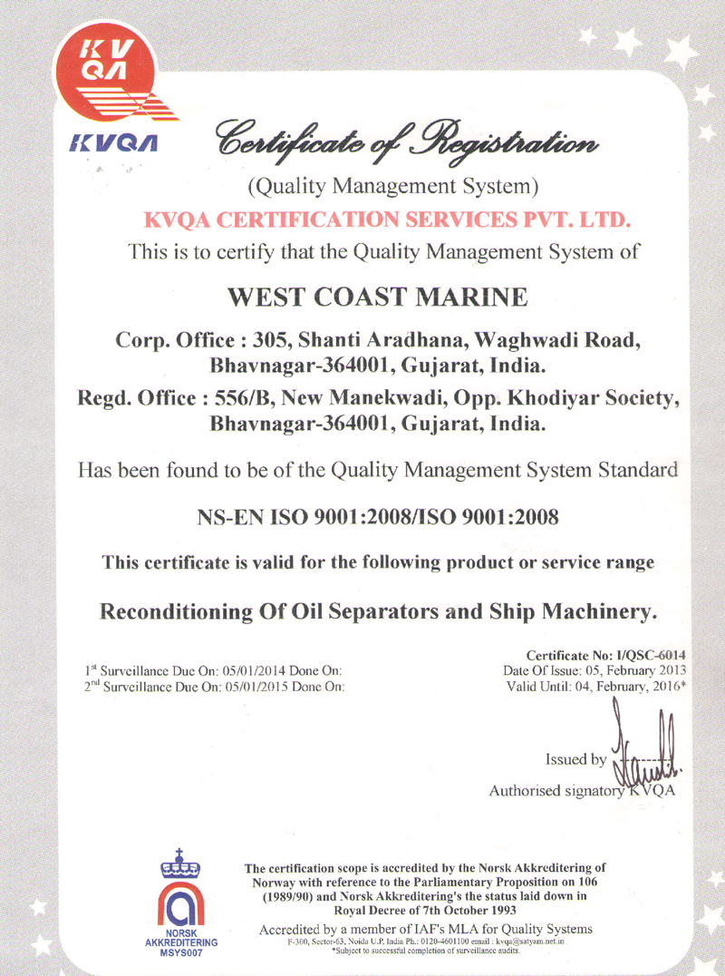 West Coast Marine | Marine Spares Suppliers | Ship Spares in India